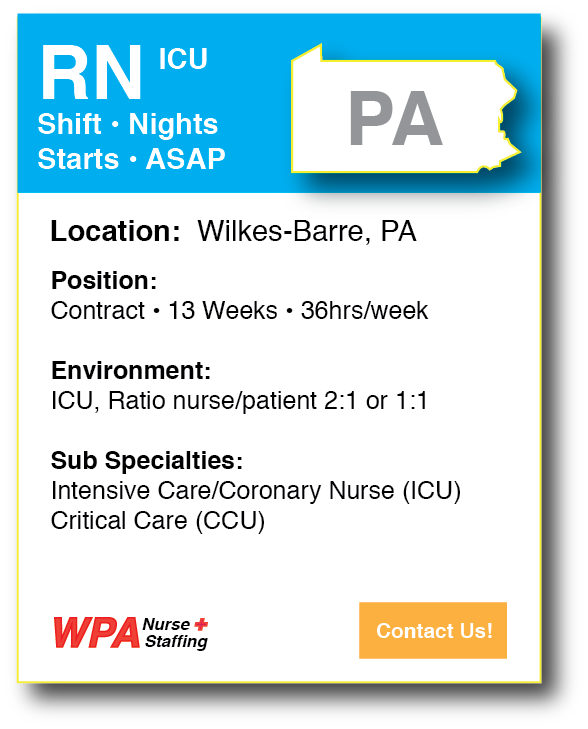 Nursing Job PA